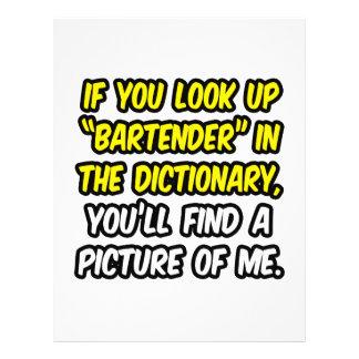 Camarero en diccionario… mi imagen tarjetones