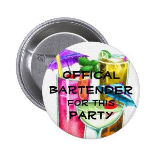 Camarero oficial para este fiesta pin