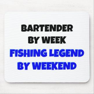 Camarero por leyenda de la pesca de la semana por  alfombrilla de ratones
