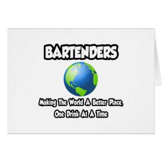 Camareros… que hacen el mundo un mejor lugar tarjeta de felicitación