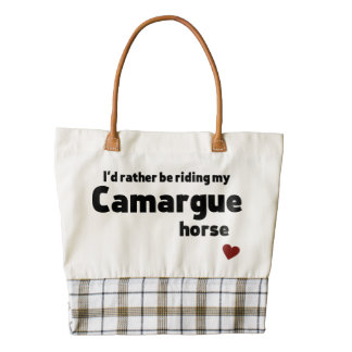 Camargue horse zazzle HEART tote bag