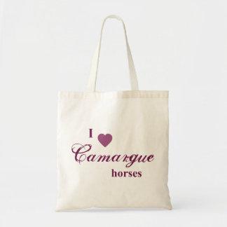 Camargue horses budget tote bag