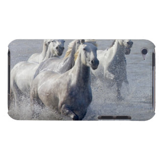 Camargue horses running on marshland to cross barely there iPod cover