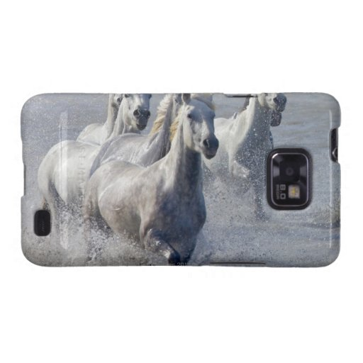 Camargue horses running on marshland to cross samsung galaxy s2 covers