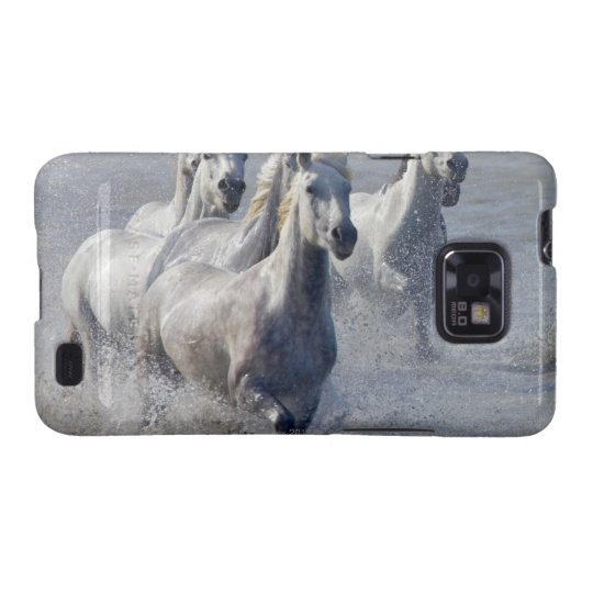 Camargue horses running on marshland to cross galaxy SII case