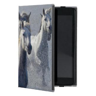 Camargue horses running on marshland to cross iPad mini case