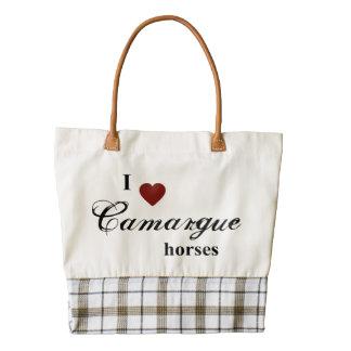 Camargue horses zazzle HEART tote bag