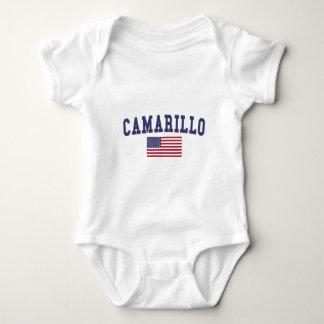 Camarillo US Flag Baby Bodysuit
