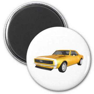 Camaro 1967 SS: Final amarillo: modelo 3D: Imán Redondo 5 Cm