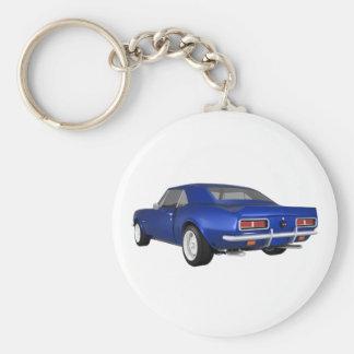 Camaro 1967 SS: Final azul: modelo 3D: Llaveros
