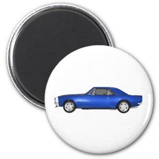 Camaro 1967 SS Final azul modelo 3D Imanes