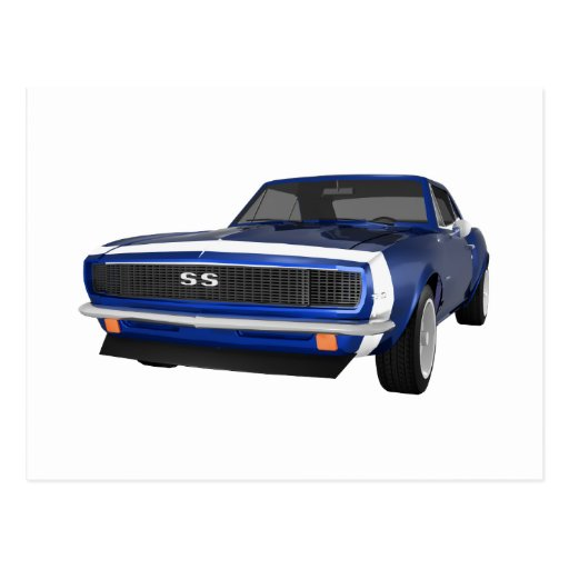 Camaro 1967 SS: Final azul: modelo 3D: Postal