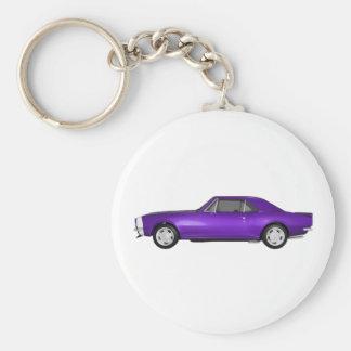 Camaro 1967 SS: Final púrpura: modelo 3D: Llavero Redondo Tipo Pin