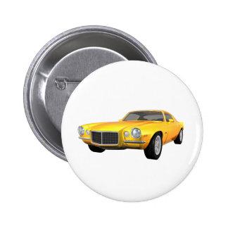 Camaro 1972 Z28: Coche del músculo: Final amarillo Pin