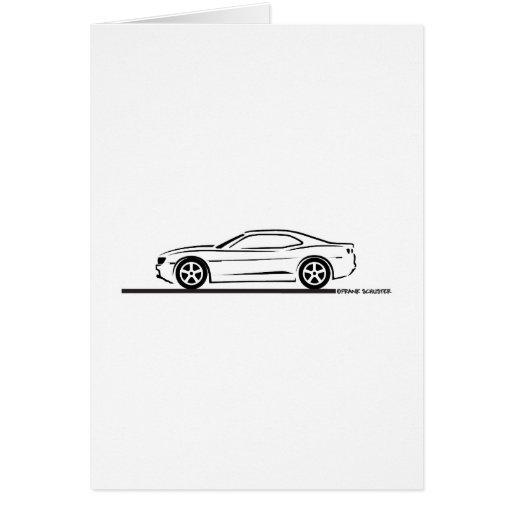 Camaro 2010 tarjeta de felicitación