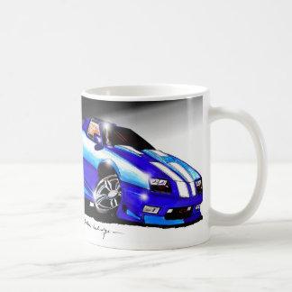 Camaro azul de Shaun Tazas
