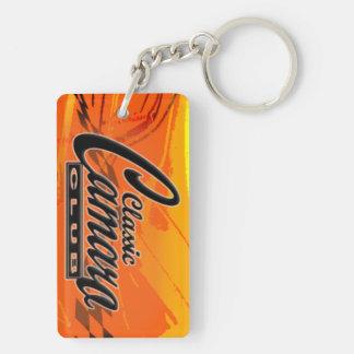 camaro double sided keychain