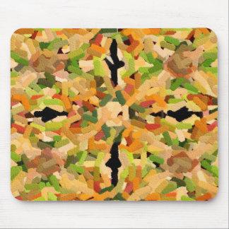 Camarón, bróculi y pimientas - grabados en relieve tapete de raton