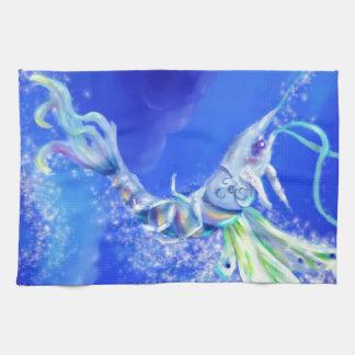 Camarón de hadas mágico toalla de mano
