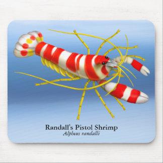 Camarón de la pistola de Randall Mousepad Alfombrillas De Raton