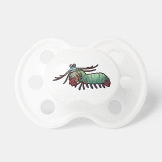 Camarón de predicador del pavo real chupetes de bebé