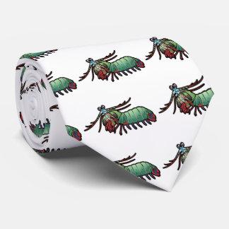 Camarón de predicador del pavo real corbata personalizada