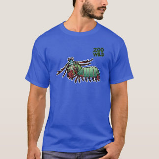 Camarón de predicador del pavo real playera