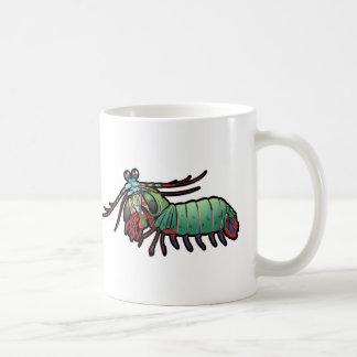 Camarón de predicador del pavo real taza de café