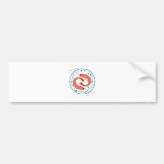 Camarón dos etiqueta de parachoque