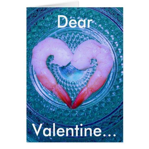 Camarón su tarjeta del amor
