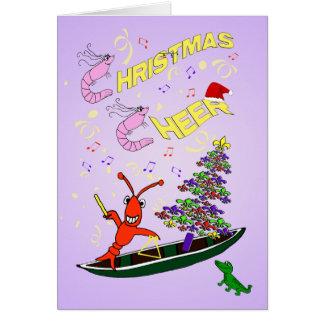 Camarón y alegría del navidad de Cajun de los cang Felicitaciones