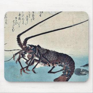 Camarón y langosta por Ando, Hiroshige Ukiyoe Mouse Pads