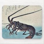 Camarón y langosta por Ando, Hiroshige Ukiyoe Tapetes De Ratón
