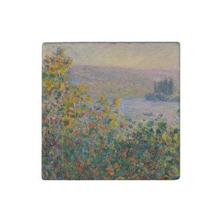 Camas de flor en Vetheuil de Claude Monet Imán De Piedra