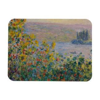 Camas de flor en Vetheuil de Claude Monet Iman De Vinilo
