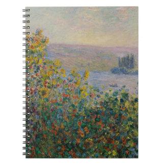 Camas de flor en Vetheuil de Claude Monet Libros De Apuntes Con Espiral
