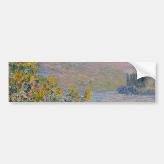 Camas de flor en Vetheuil de Claude Monet Pegatina Para Auto