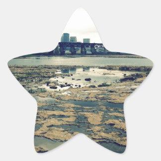 Camas del fósil del río Ohio Pegatina En Forma De Estrella