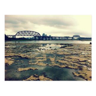 Camas del fósil del río Ohio Postal
