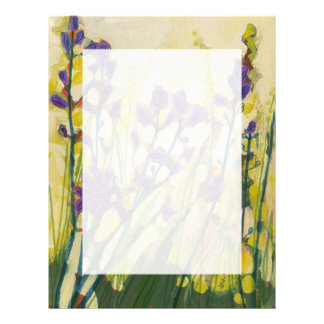 Camas in Bloom Floral Stationery 8 1/2 x 11 Letterhead