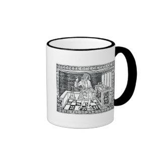 Cambiador de dinero tazas de café