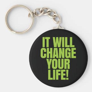 ¡cambiará su vida - trabaja! Global Llavero Redondo Tipo Pin