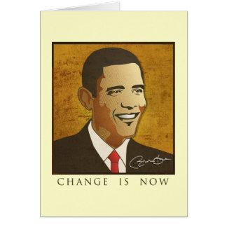 Cambie ahora es - Barack Obama Tarjeta De Felicitación