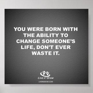 Cambie alguien vida impresiones