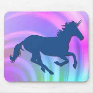 Cambie el arco iris de Unicorn_Pastel del color Alfombrilla De Ratón