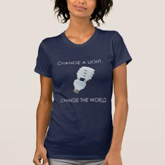 Cambie el camisetas de la oscuridad del bulbo