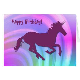 Cambie el cumpleaños de Unicorn_Pastel Tarjeta De Felicitación