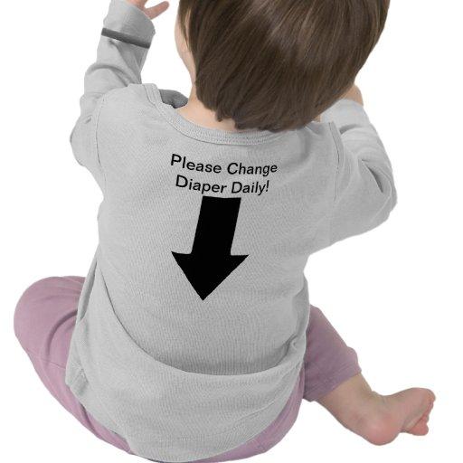 ¡Cambie el diario del pañal - apenas embromando! ; Camiseta