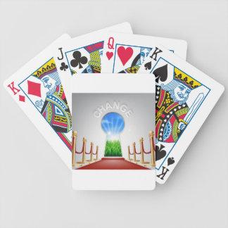 Cambie el ejemplo conceptual baraja de cartas