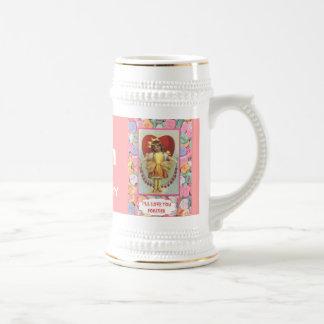 ¡Cambie el número Una guirnalda de corazones Tazas De Café